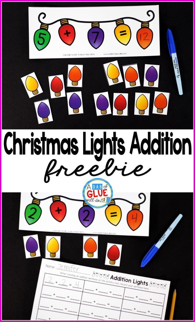 Winter Addition Worksheets First Grade