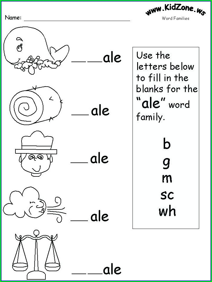 Word Family Worksheets High School