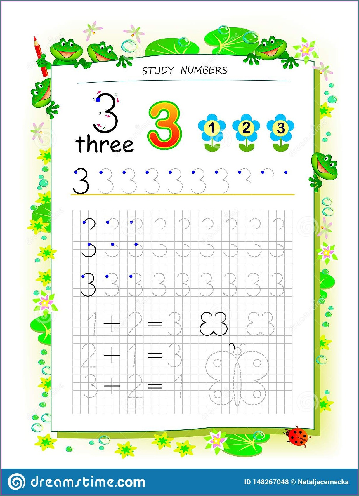 Worksheet On Number 3
