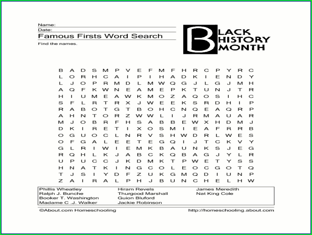 Worksheets Black History Word Search Puzzles Printable