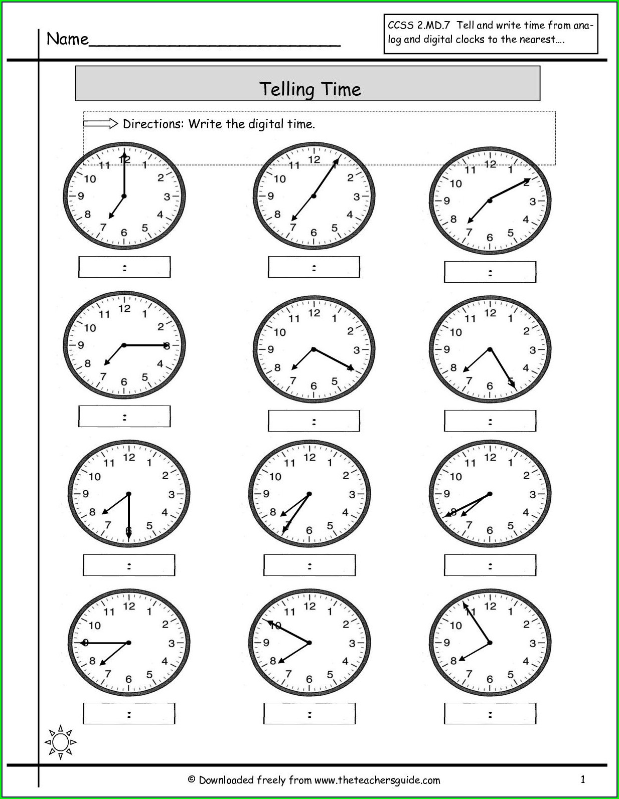 Worksheets For Grade 5 Time