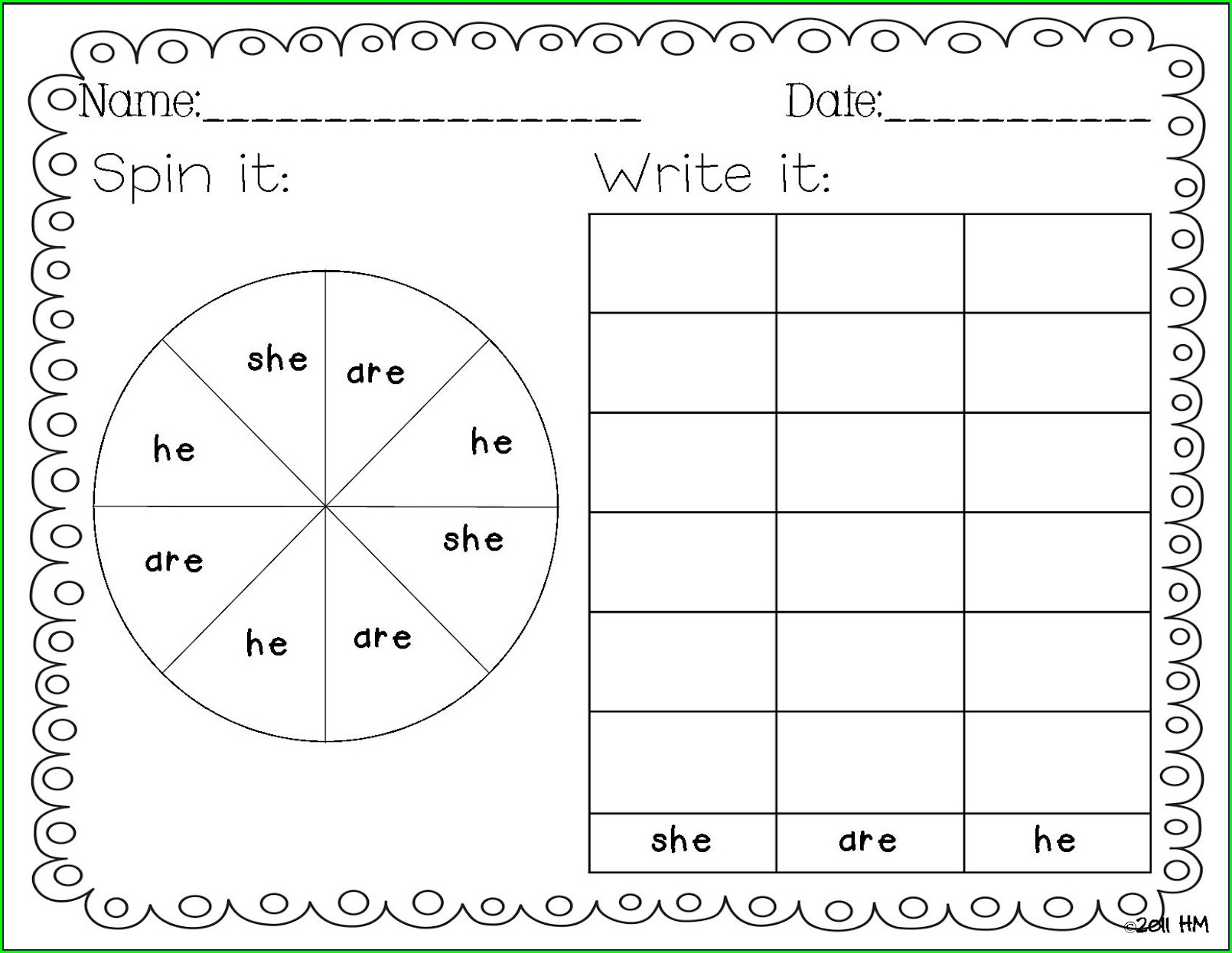 Worksheets For Kindergarten To First Grade