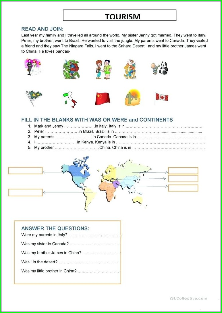 World Map Continents And Oceans Worksheet