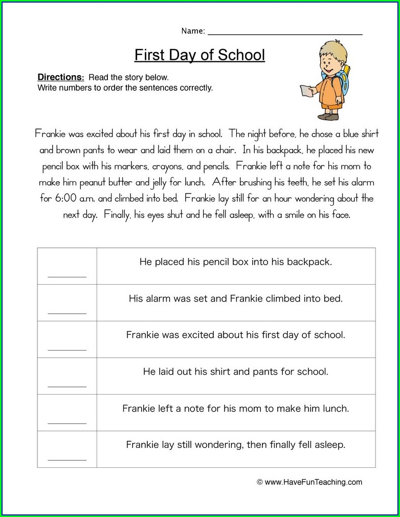 Writing A Paragraph Worksheet 2nd Grade