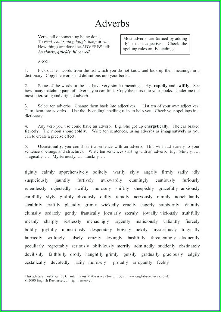 Writing In Sentences Worksheet