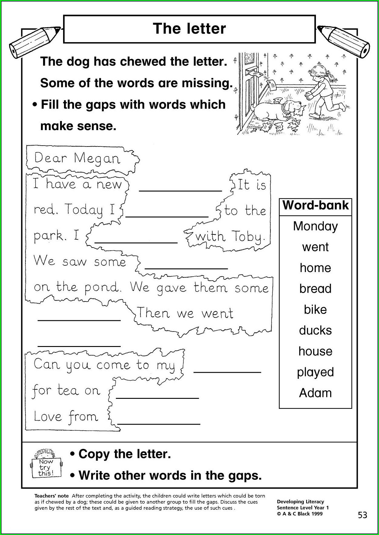 Writing Sentences Worksheet Ks1