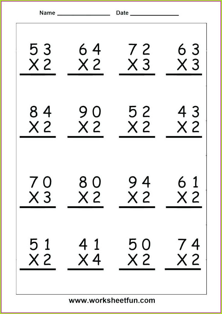 Year 5 Short Multiplication Worksheet
