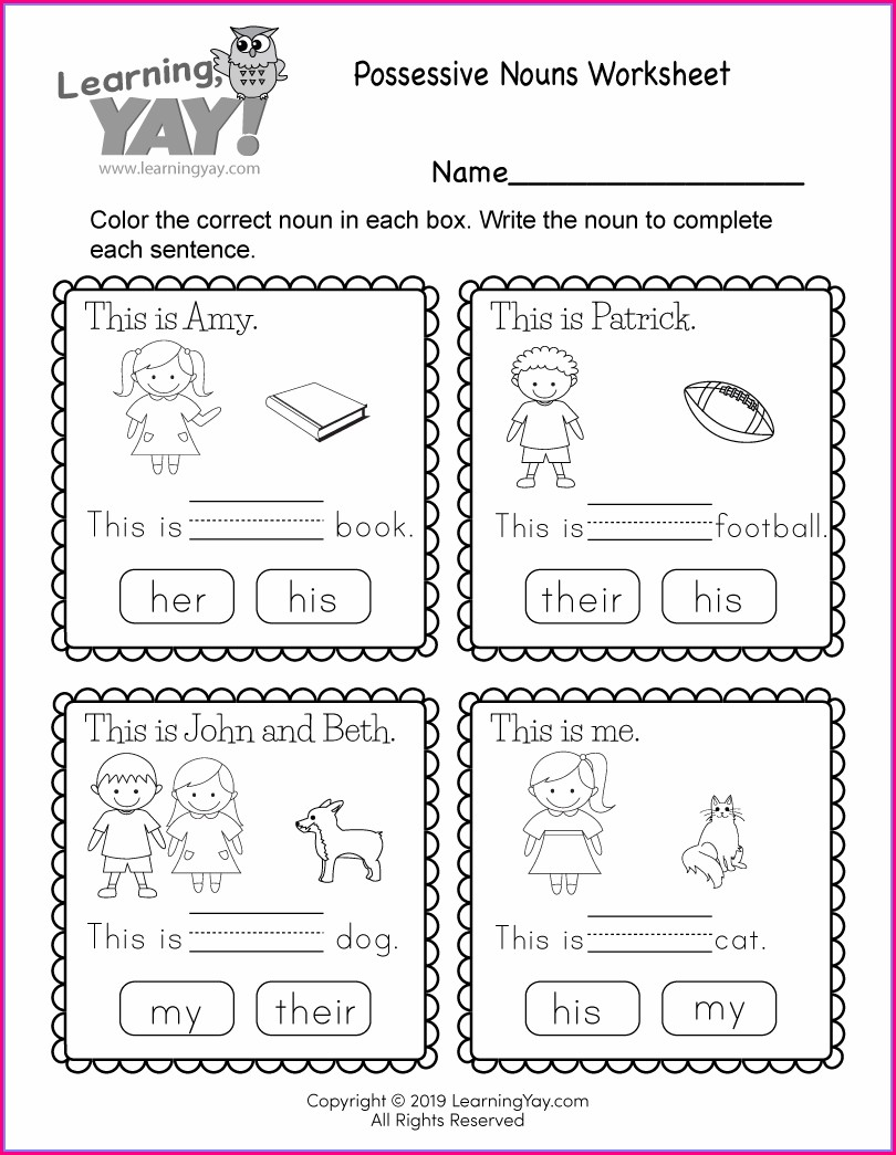 1st Grade Free Printable 1st Grade Worksheet For Kids
