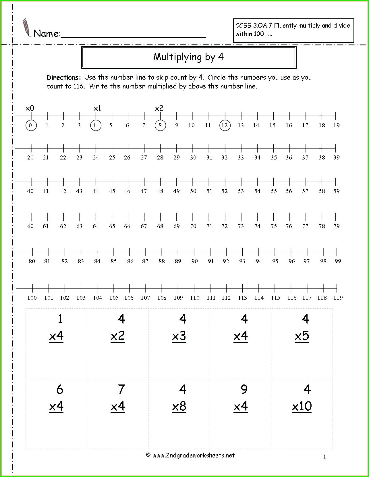 2 And 5 Times Table Worksheet