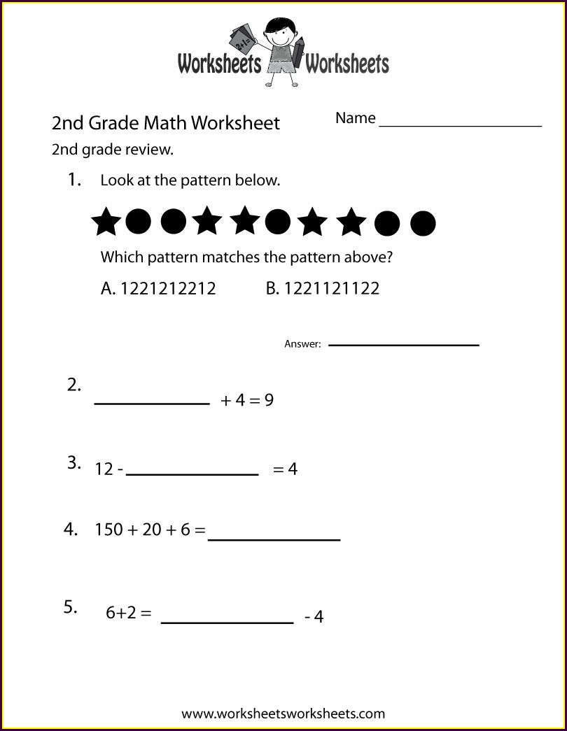 2nd Grade Math Review Worksheets