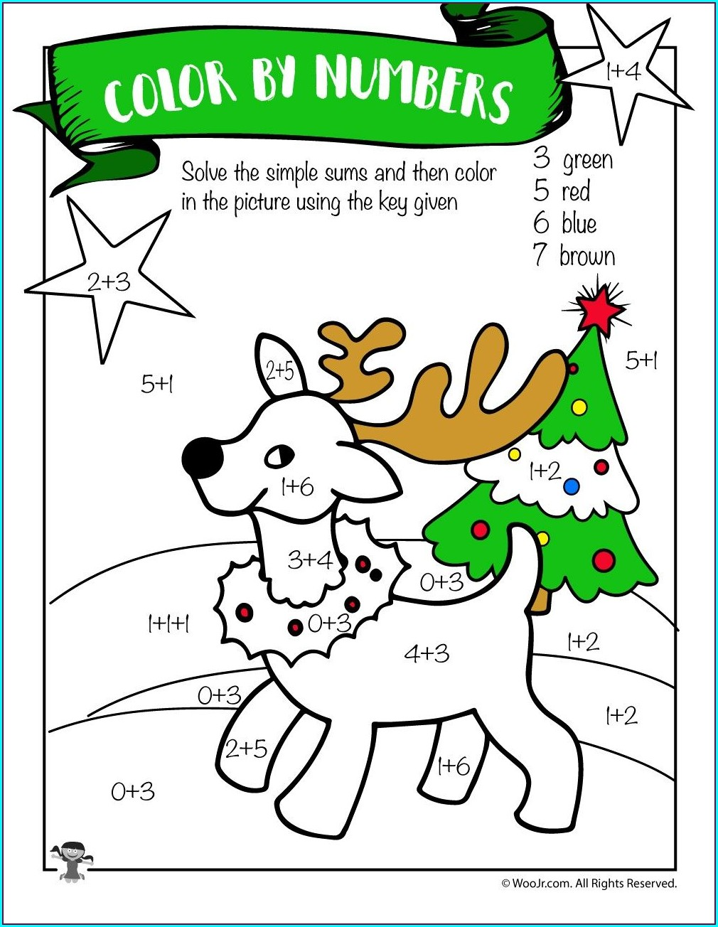 2nd Grade Math Worksheets For Christmas