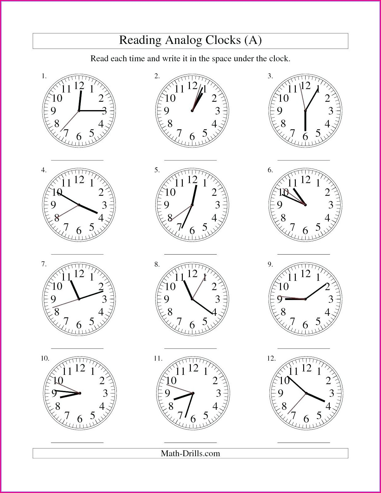 2nd Grade Math Worksheets Multiplication