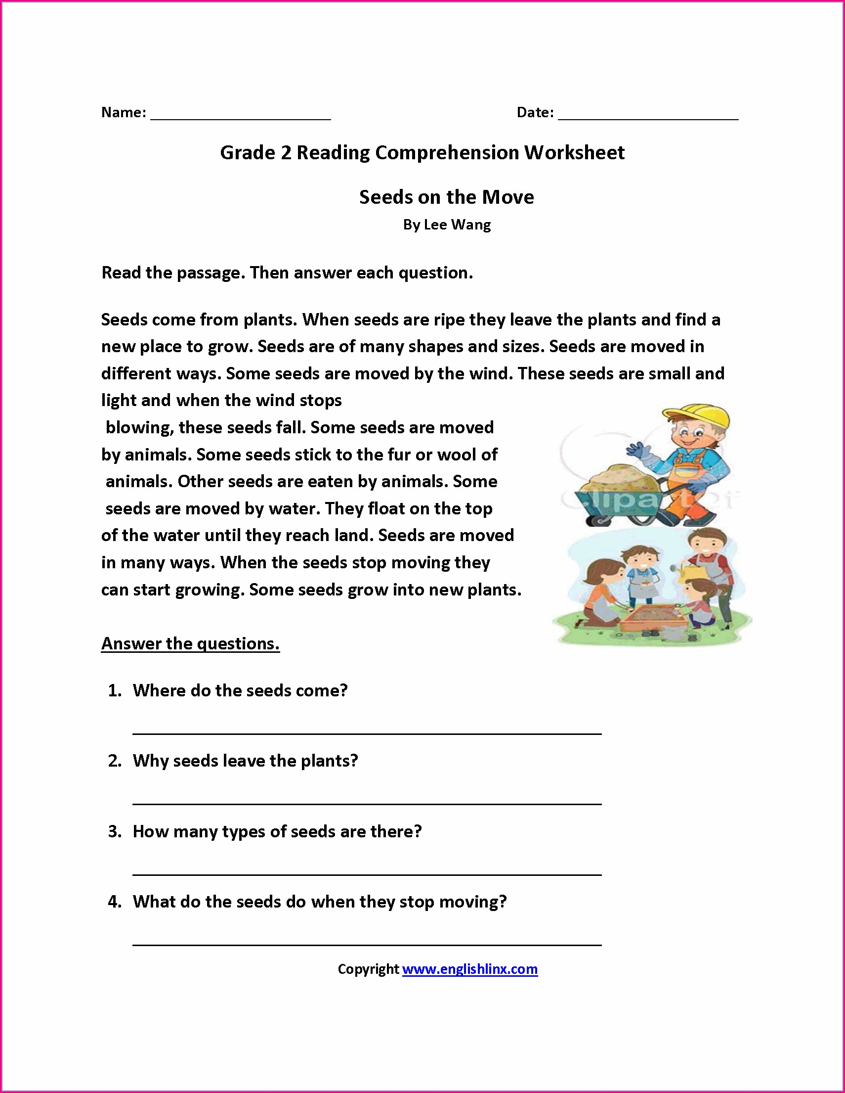 2nd Grade Reading Fluency Worksheet