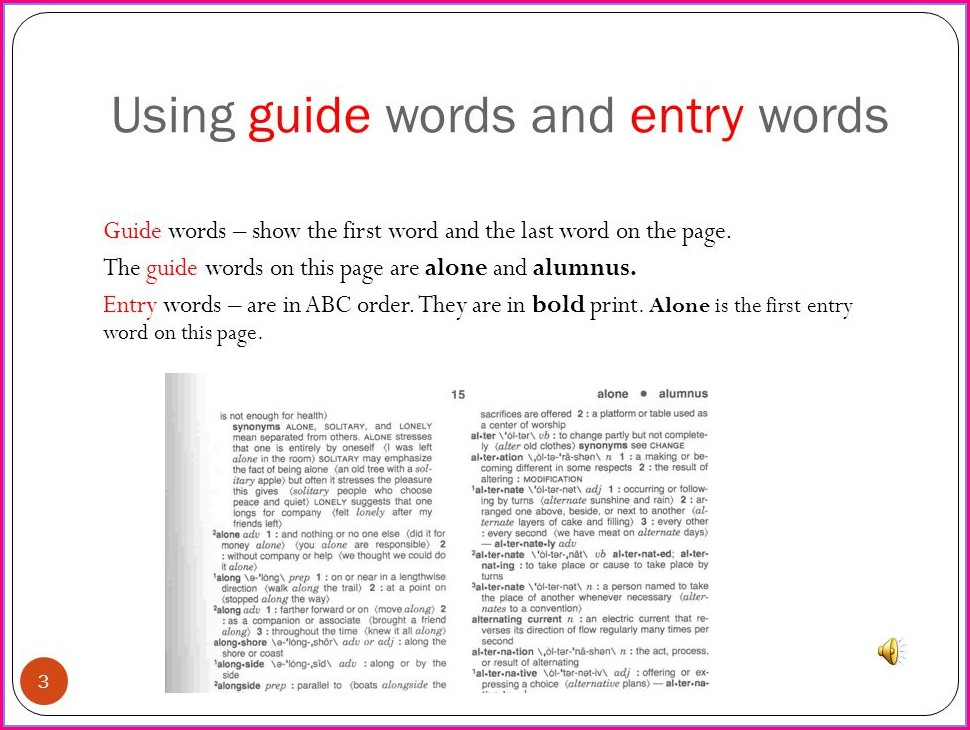 3rd Grade Dictionary Guide Words Worksheet