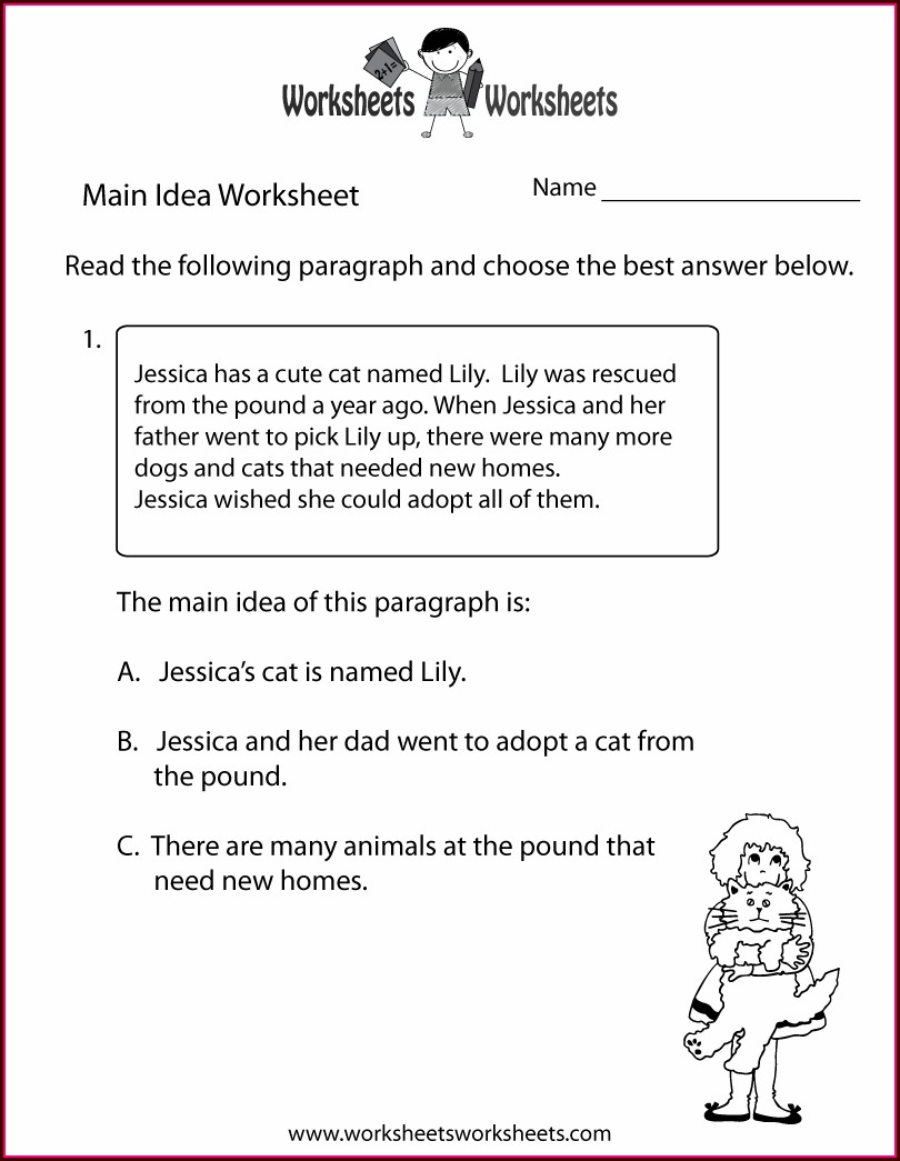 3rd Grade Finding The Main Idea Worksheets With Answers