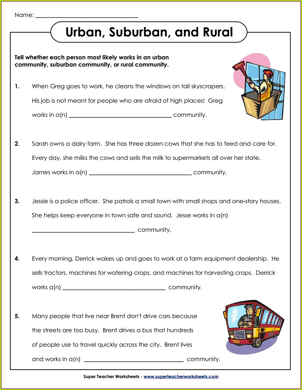 3rd Grade Geography Worksheets Pdf