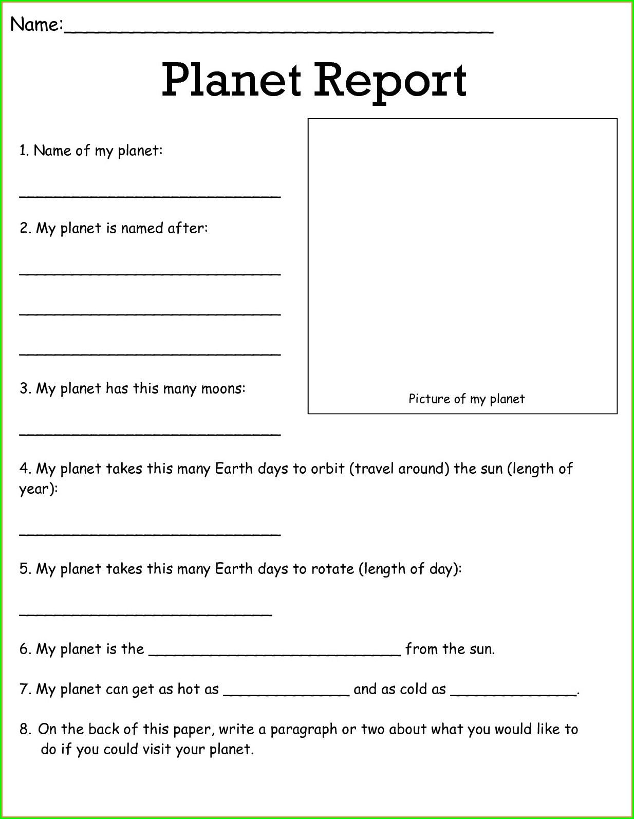 5th Grade Science Worksheets Free Printable