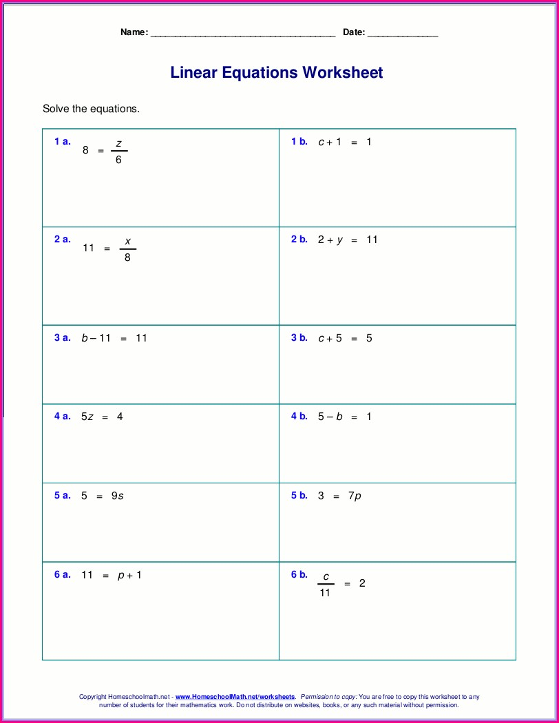6th Grade Math Inequalities Worksheet Pdf