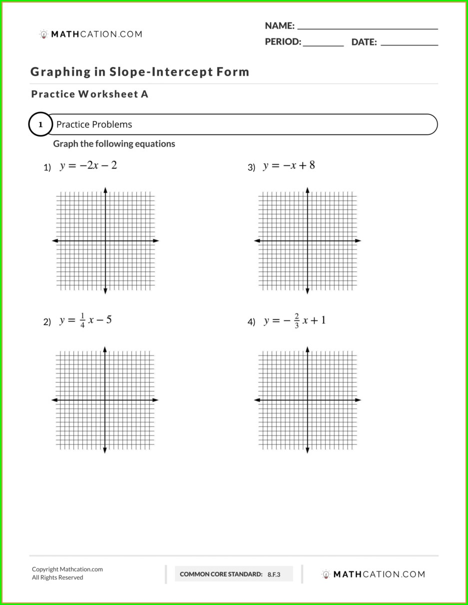 8th Grade Math Worksheets On Slope