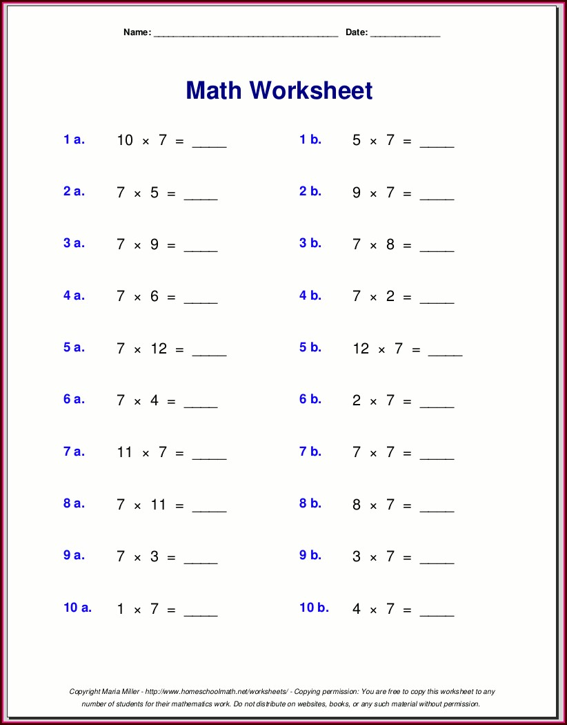 8th Grader Grade 8 Math Worksheets With Answers