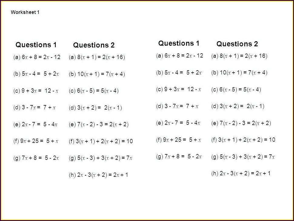 Algebra 1 Systems Word Problems Worksheet