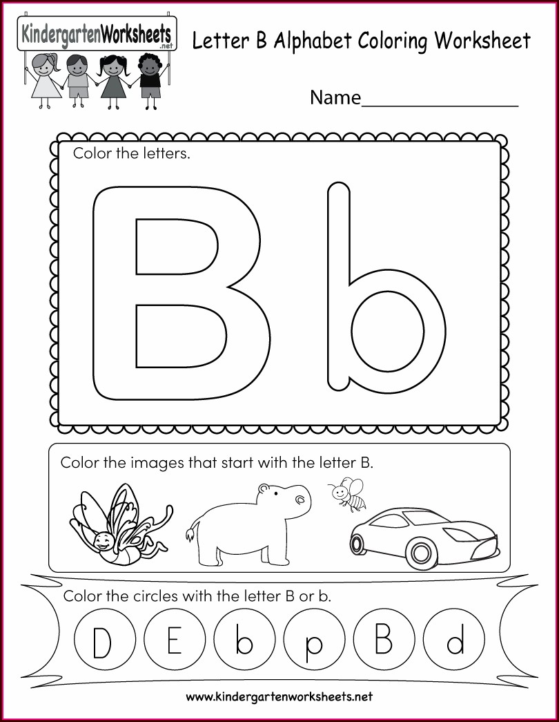 Alphabet English Worksheet For Kindergarten