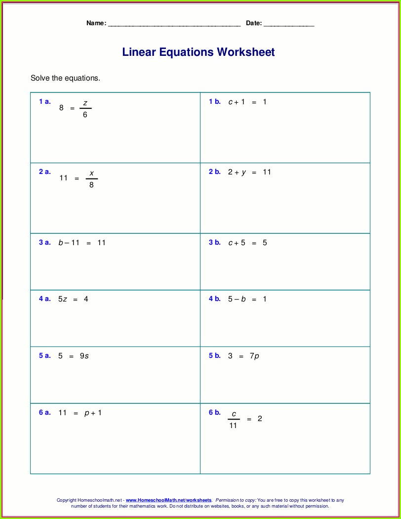 Answer Key 6th Grade Inequalities Worksheet