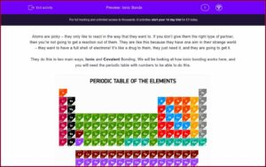 Atoms Bonding And The Periodic Table Worksheet