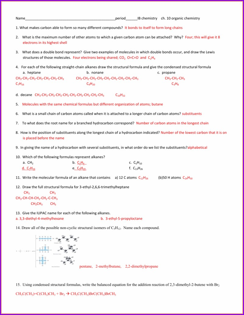 Chapter 10 Writing And Balancing Equations Worksheet Answers