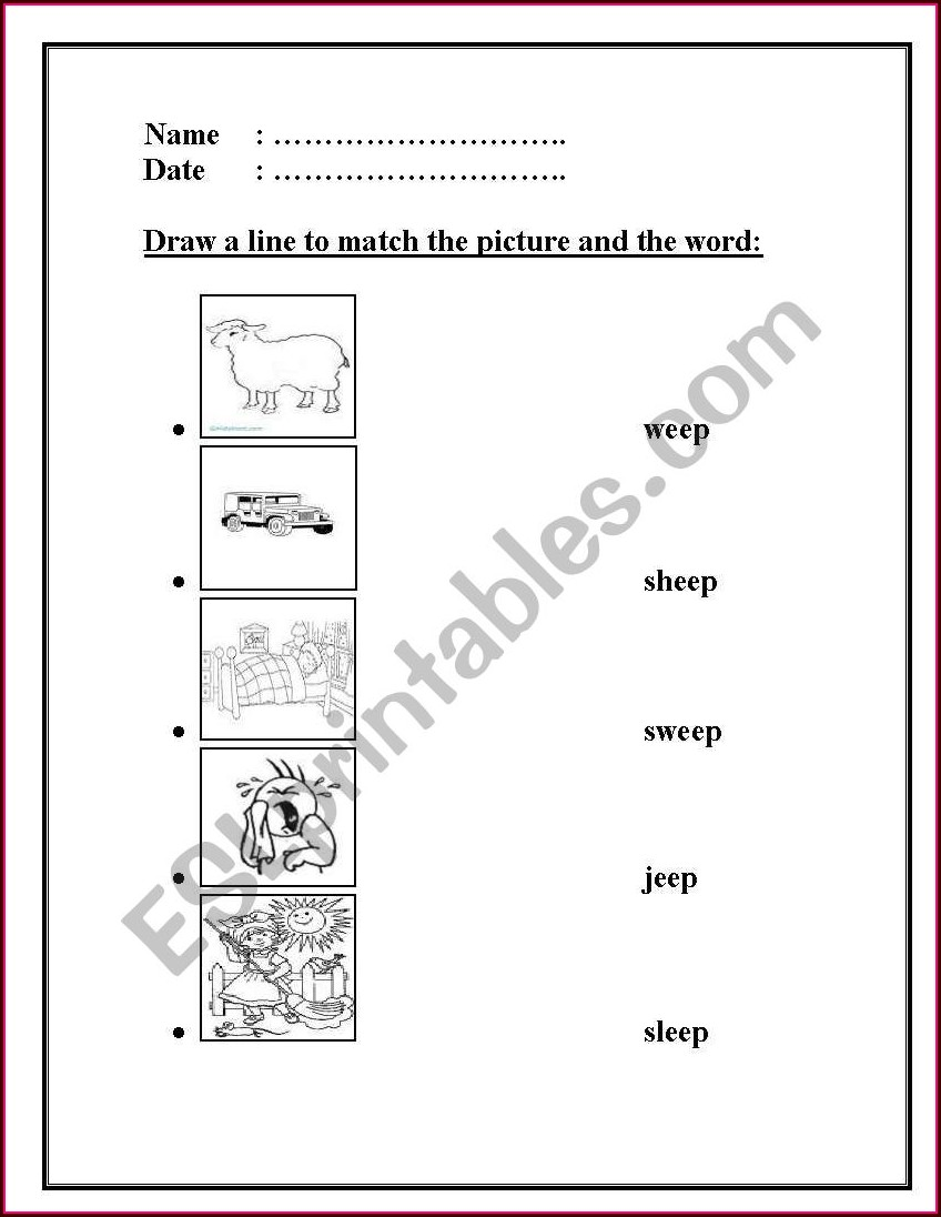 Eep Word Family Worksheets