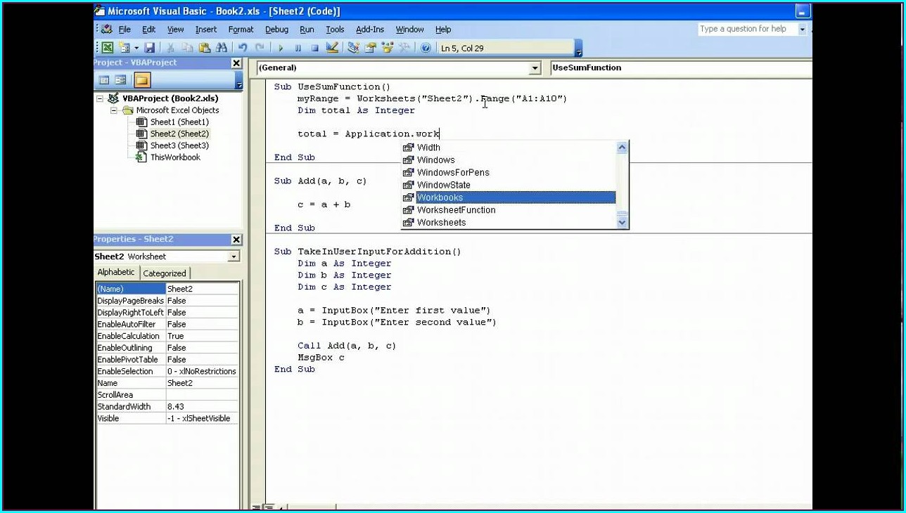 Excel Vba Call Worksheet Function From Workbook