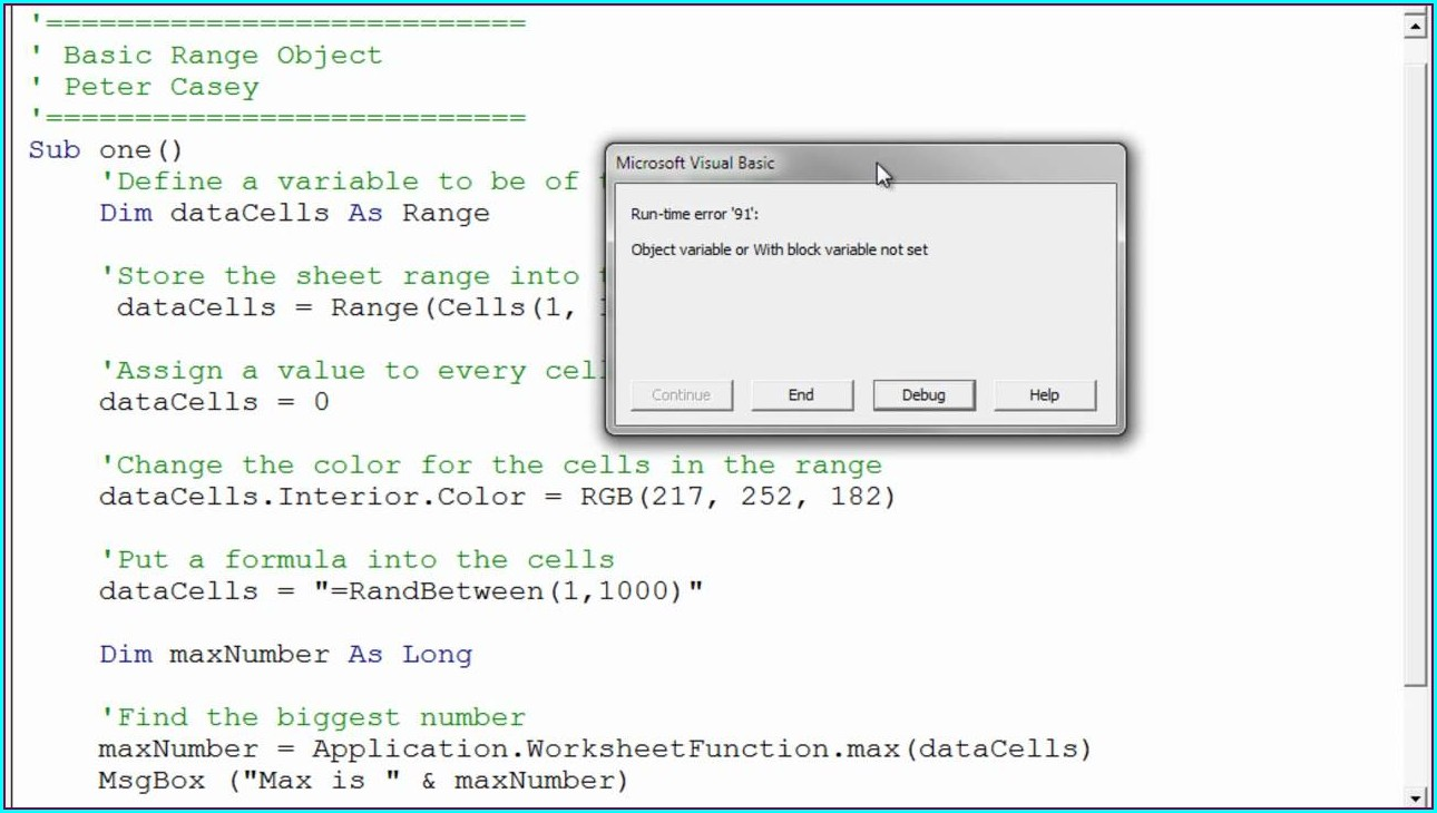 Excel Vba Reference Worksheet By Variable