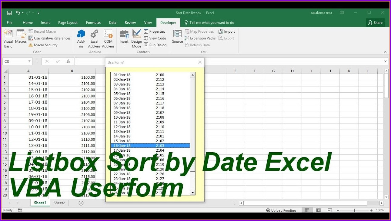 Excel Vba Sort By Date