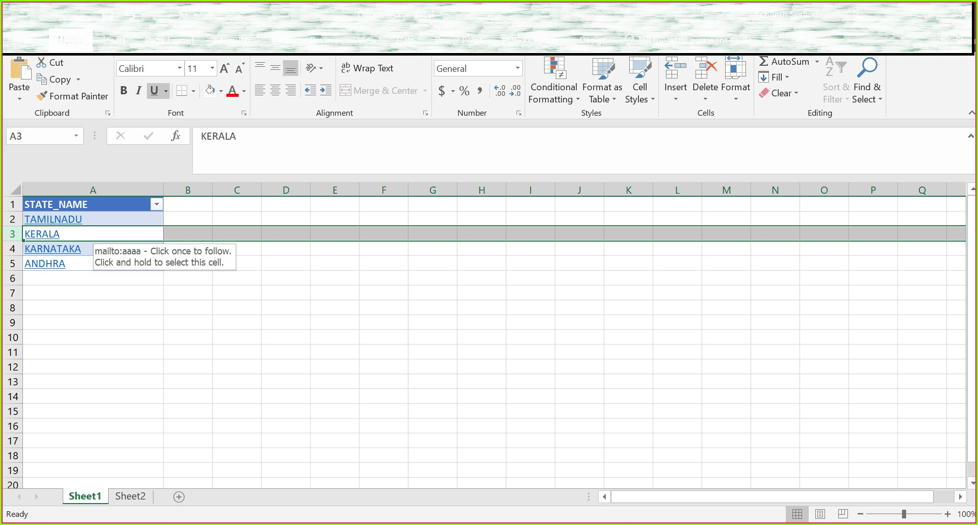 Excel Worksheet Name To Cell