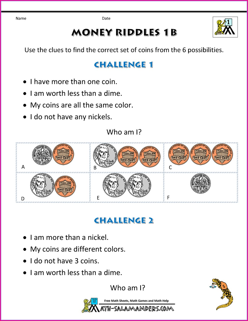 First Grade Math Worksheets Problem Solving