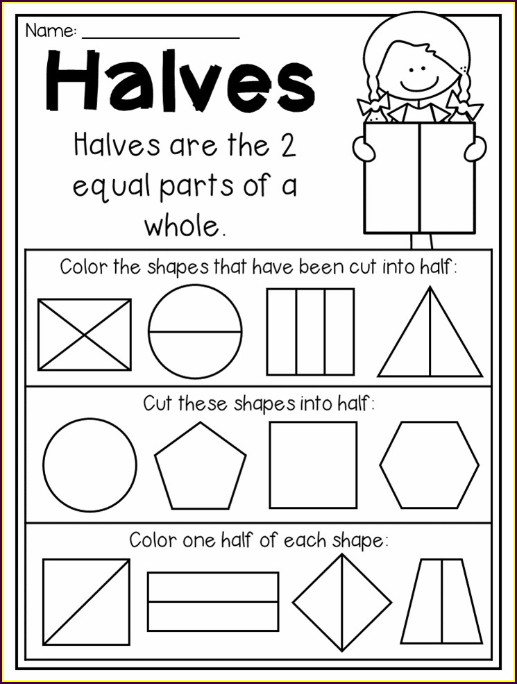 Fractions Equivalent To One Half Worksheet