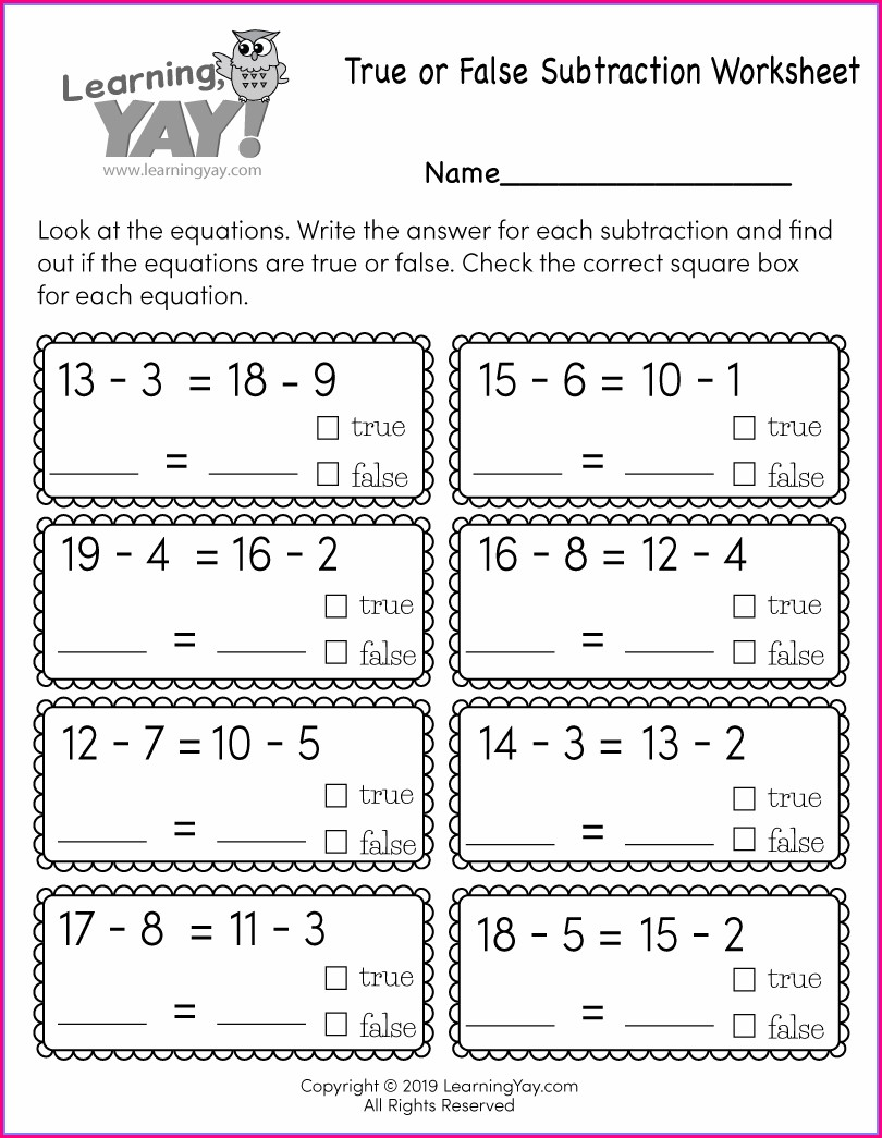Free Printable 1st Grade Worksheet