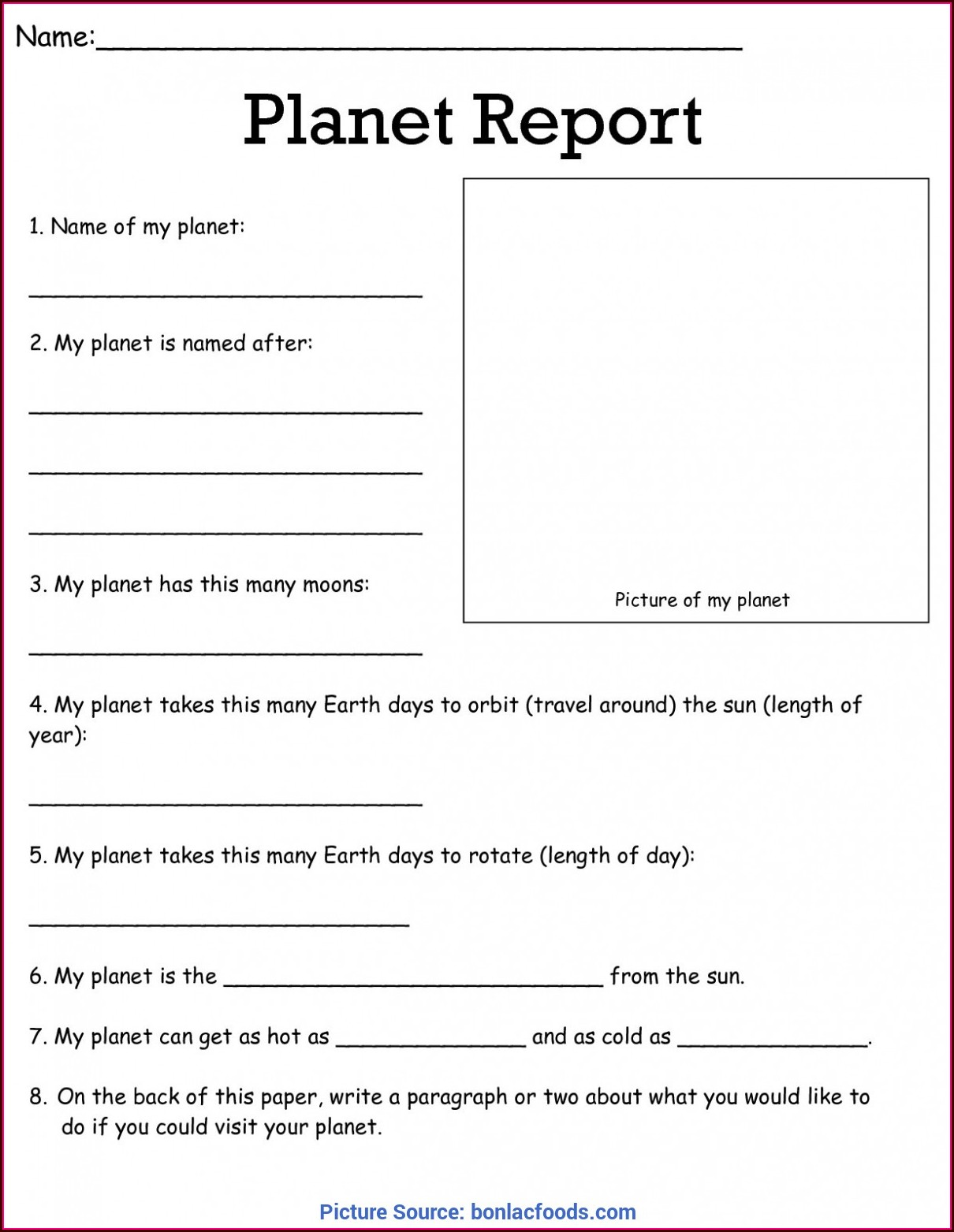 Free Science Worksheet Downloads