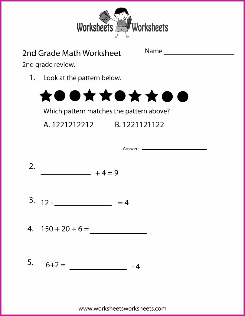 Grade 2 Math Worksheets In French