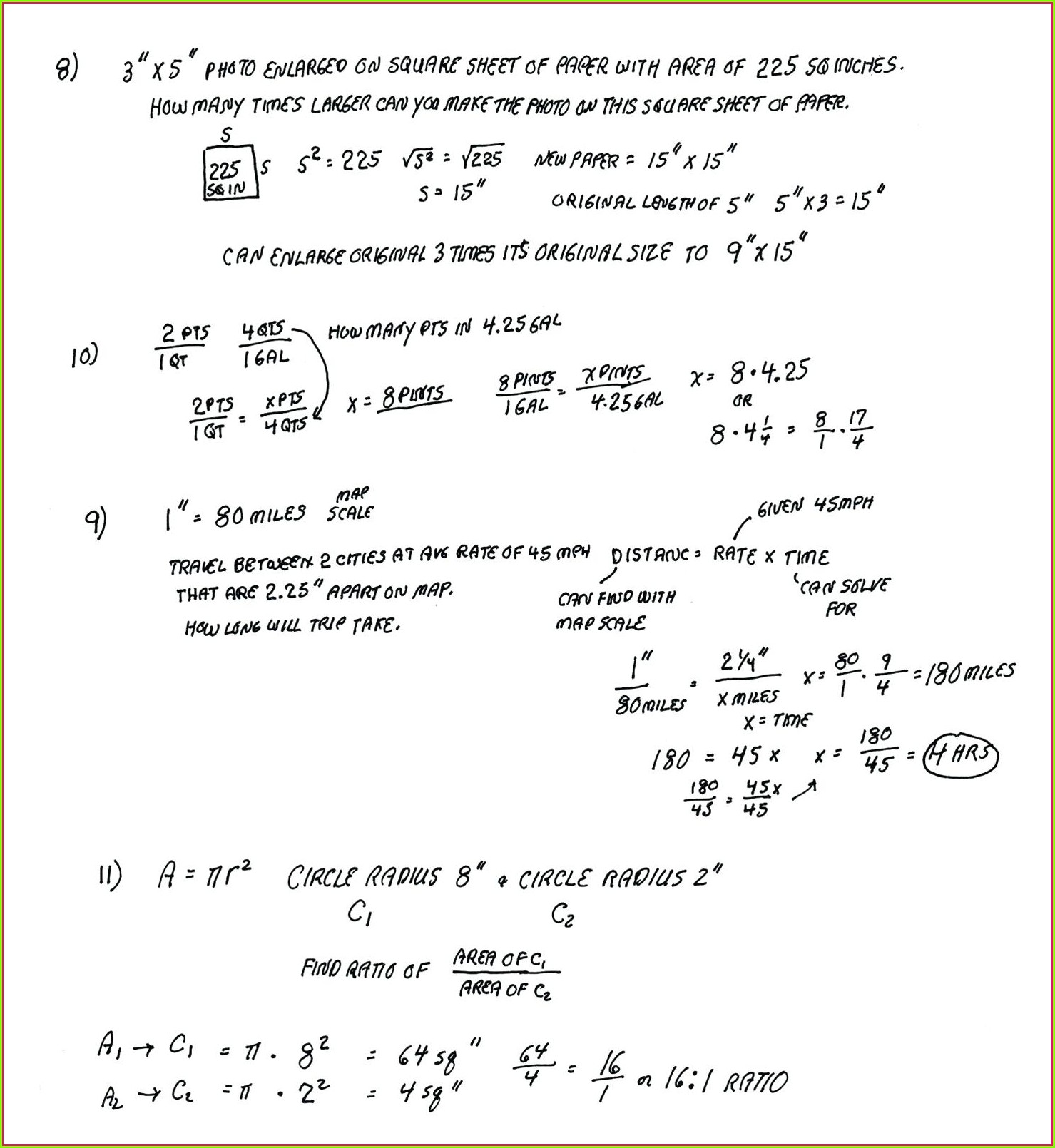 Grade 5 Math Word Problems Worksheet Answers