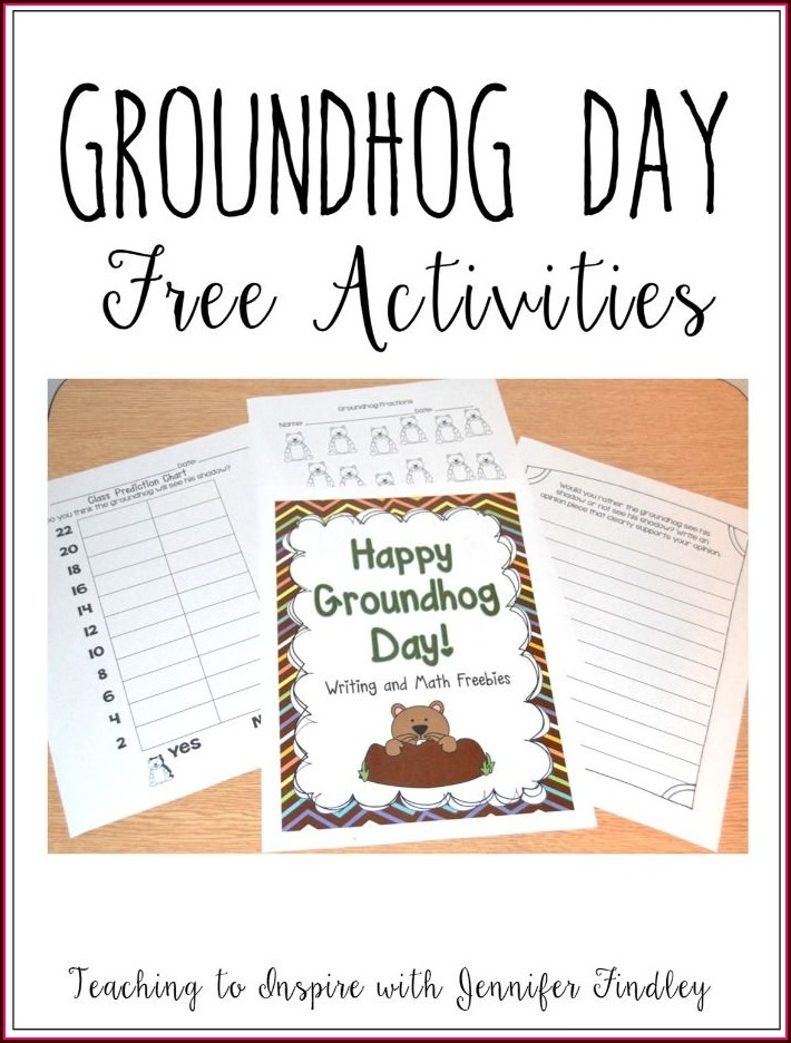 Groundhog Day Printables Kindergarten