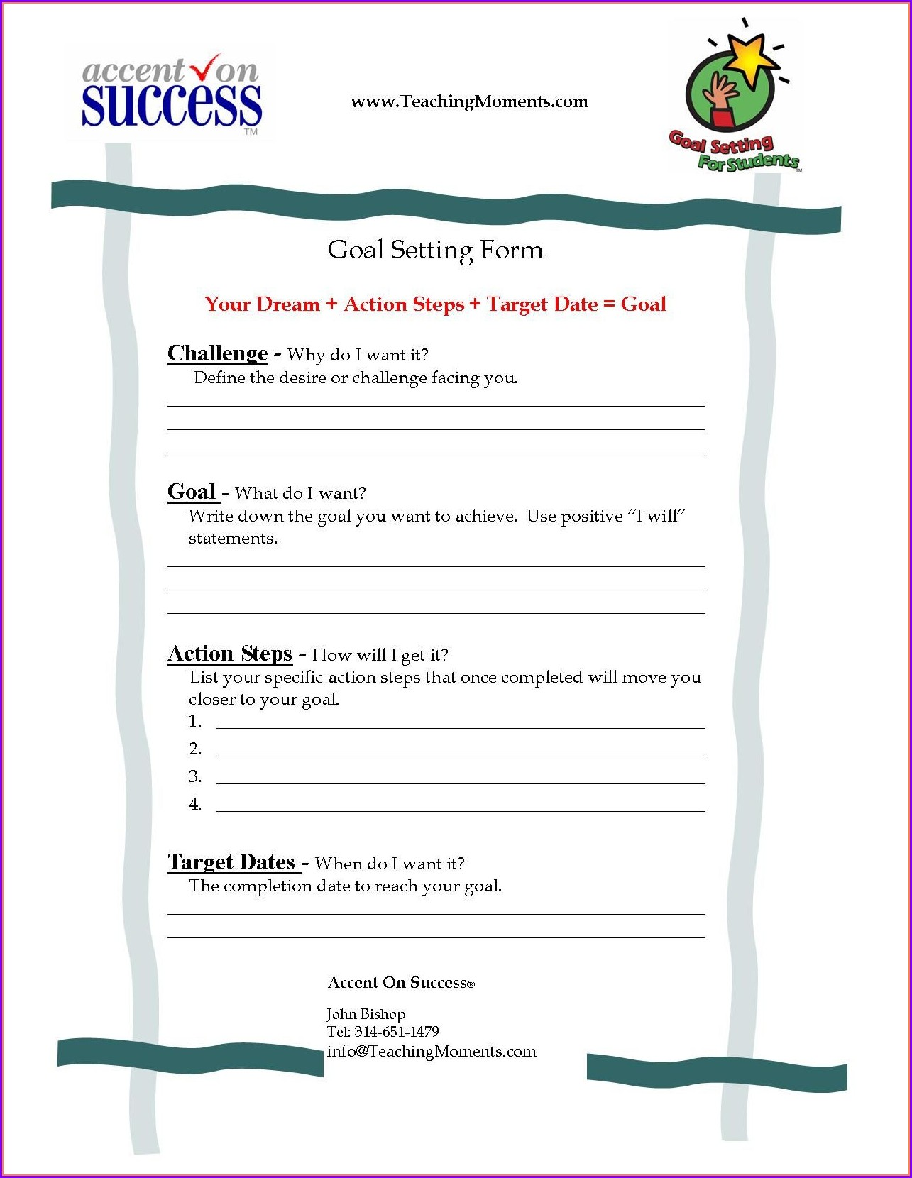 Iep Goal Setting Worksheet