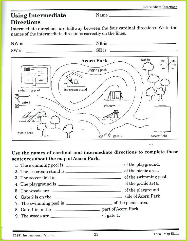 Kindergarten Map Worksheet Printables