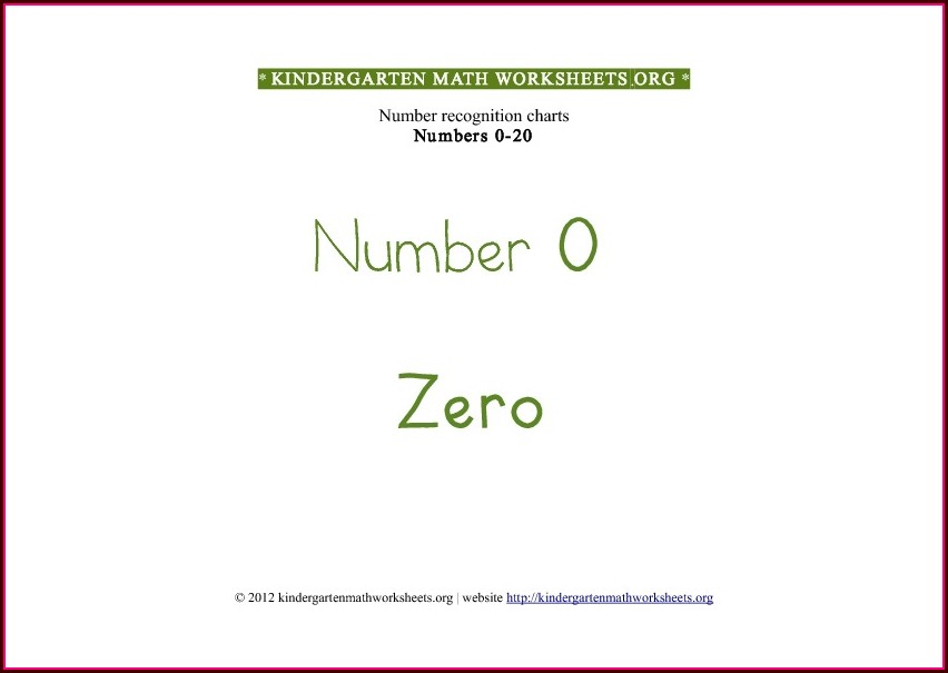 Kindergarten Math Worksheets Counting To 20