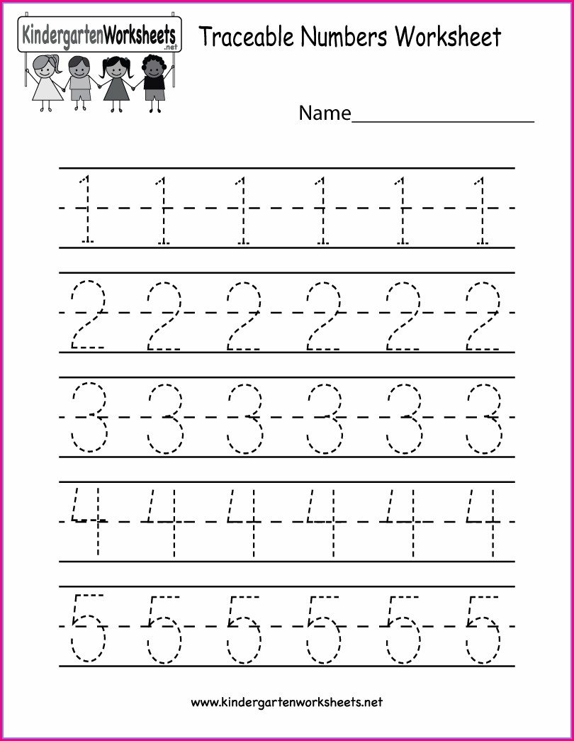 Kindergarten Number Worksheets Printable
