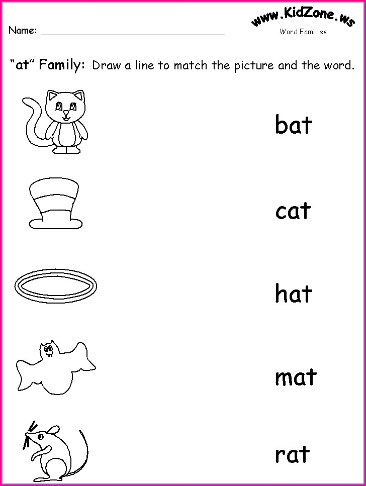Matching Sight Words To Pictures Worksheets