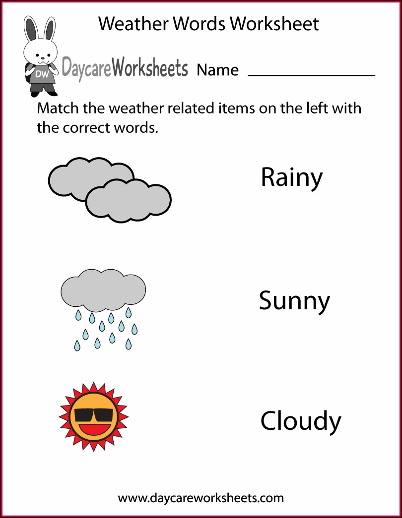 Matching Words To Pictures Worksheets Pdf