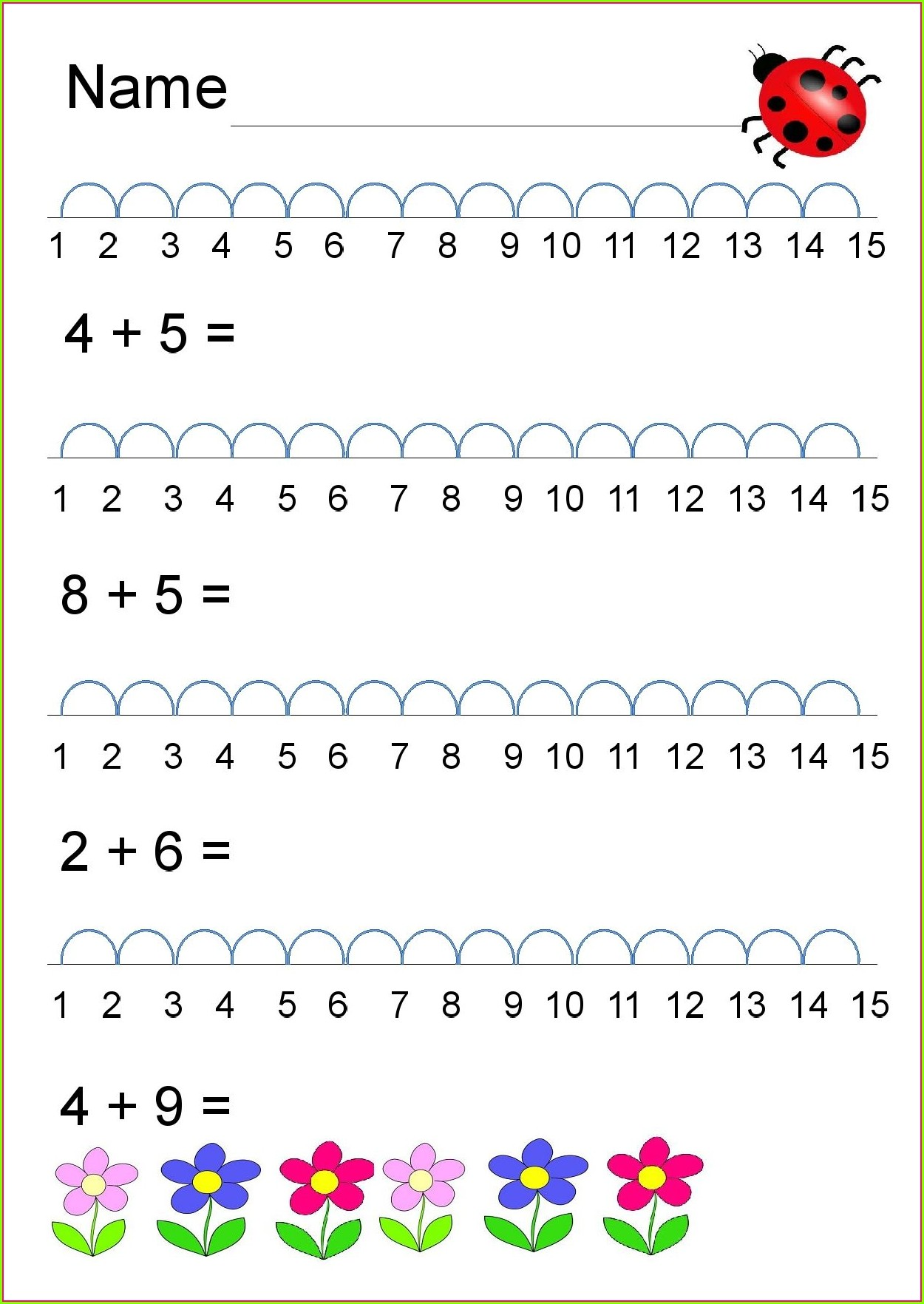 Math Worksheet For Grade 1
