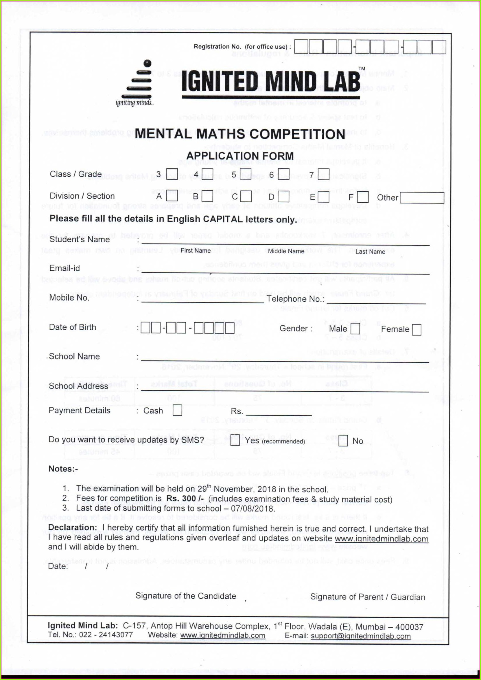 Mental Math Worksheet For Grade 4