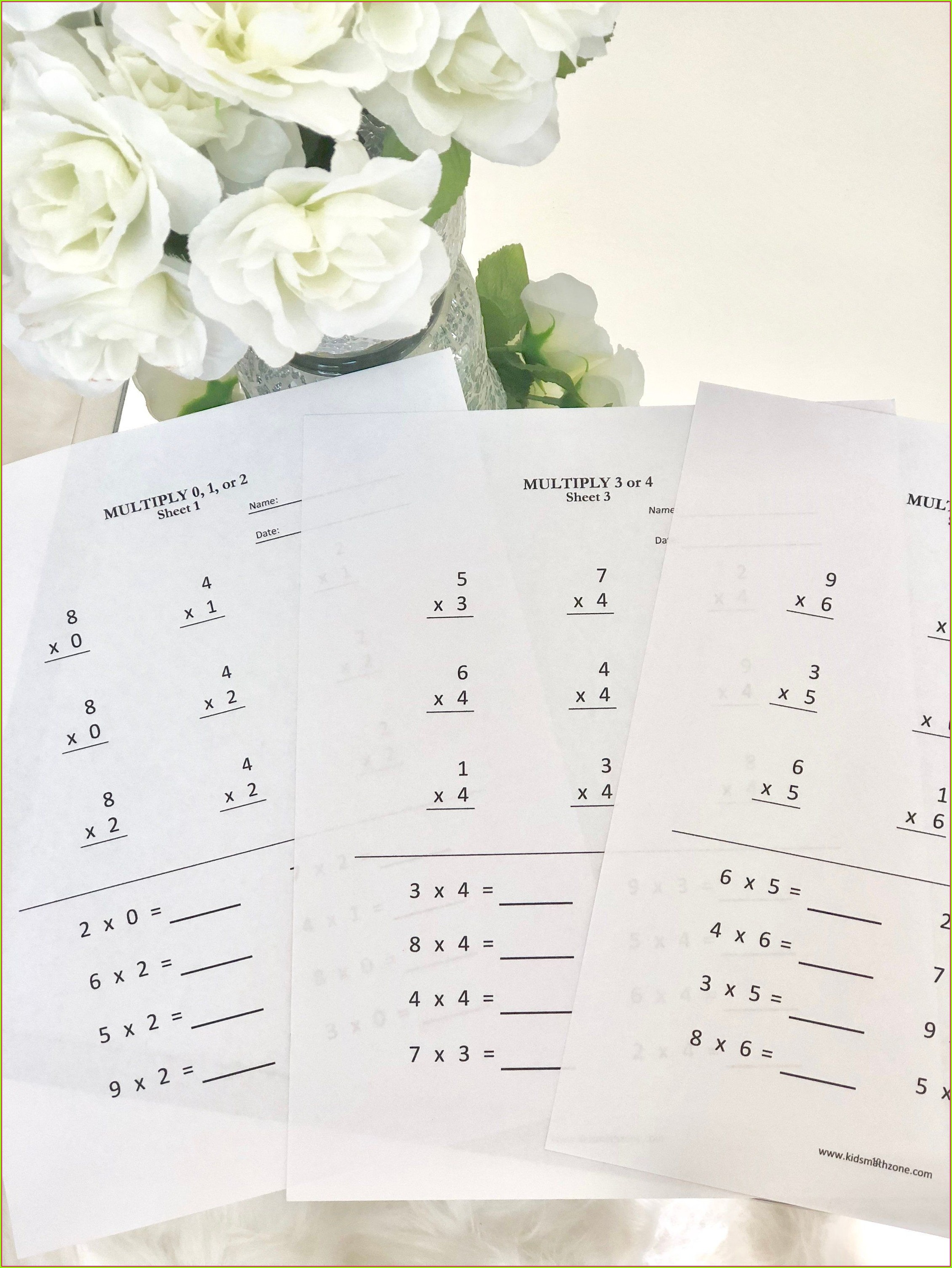 Multiplication Worksheet For Grade 1